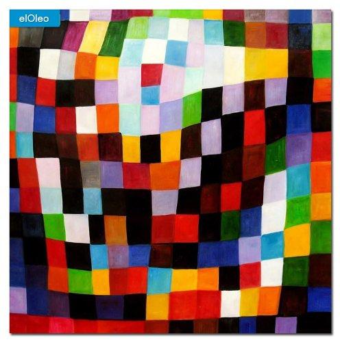 elOleo Paul Klee – Maibild 120×120 Gemälde auf Leinwand handgemalt 83571A günstig kaufen