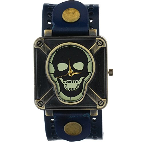 Ghost Rider Copper Skeleton Skull Watch