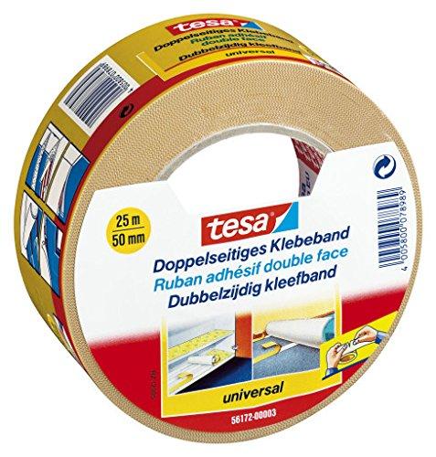 tesa-doppelseitiges-Klebeband-fr-Teppich-Verlegung-sowie-Bastel-und-Dekorationsarbeiten-25m-x-50mm