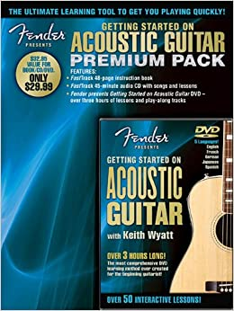Fender Presents: Getting Started on Acoustic Guitar Premium Pack available at Amazon for Rs.1605