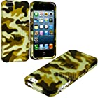 myLife Dirty Green + Brown Camouflage Series (2 Piece Snap On) Hardshell Plates Case for the iPhone 5/5S (5G) 5th Generation Touch Phone (Clip Fitted Front and Back Solid Cover Case + Rubberized Tough Armor Skin)