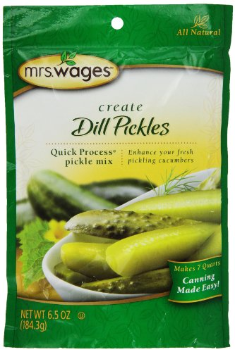 Mrs. Wages Quick Process Dill Pickle Mix 6.5 Oz, 6 Packages (Mrs Wages Dill Pickle Mix compare prices)