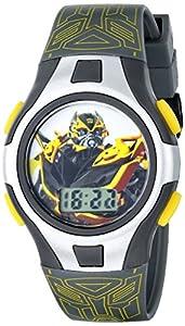 Hasbro Kids' TF4KD001 Transformers Digital Display Quartz Grey Watch