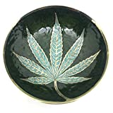 #8: God Of Sale Marijuana Leaf Premium Royal Brass Mixing Bowl/Ashtray- 3.5 Inch (Gold)
