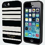 Kate Spade Fairmont Stripe Black Cream iPhone 5 5S