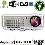 EUG X760 + Wireless Android DVB-T LCD LED Projektor-HD 1080p 3D 2600 Lumen Portable f¨¹r Home Cinema Theatre Games TV Schule B¨¹ro Presentation