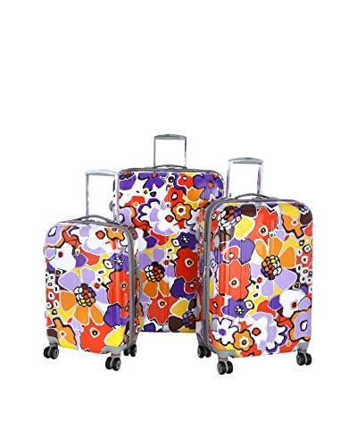 Olympia USA Blossom 3-Piece Hardside Luggage Set, Lavender
