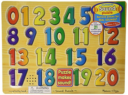 Melissa & Doug Numbers Sound Puzzle: Light Activated!