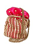 Craftsman Enterprises Women's Potli Bag Pink (Potli02)