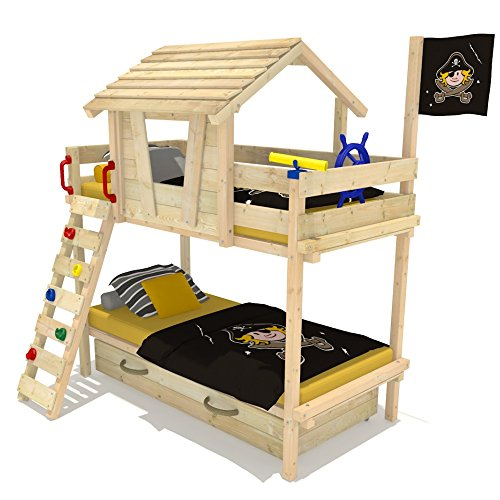 wickey etagenbett wood land duo hochbett spielbett. Black Bedroom Furniture Sets. Home Design Ideas