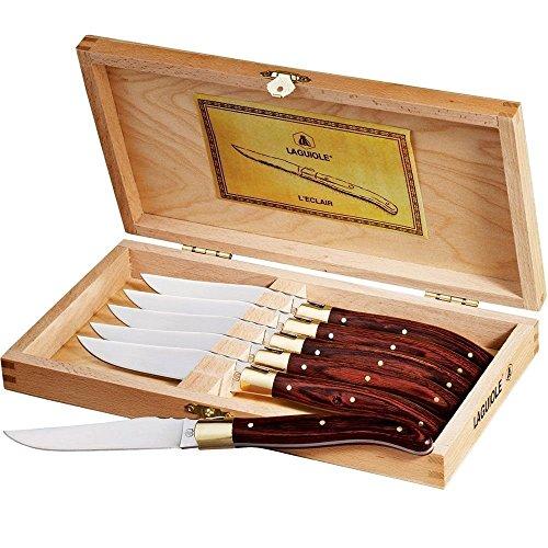 Laguiole 6-Piece Steak Knife Set Stainless Steel Knife Set In Wooden Case