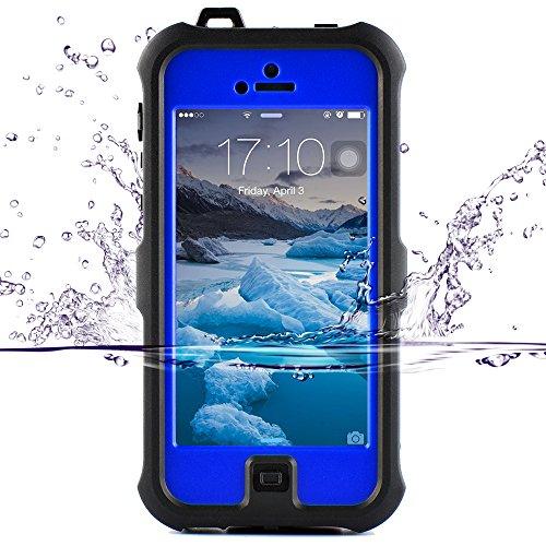 (ゼットウィイ-)ZVE iphone se ケース iPhone5sケース アイフォン5S/SE用防水ケース 防塵 耐衝撃カバー 液晶保護フィルム付き (iphone5S/SE/5 ブルー)