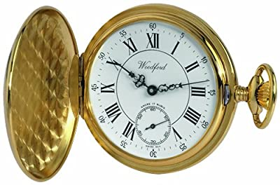 Woodford Pocket Watch 1009 Gold Plated Full Hunter