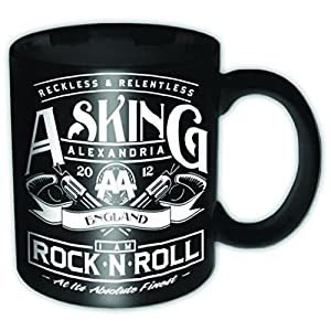 Amazon.com | Asking Alexandria Rock n Roll new official Boxed Mug