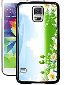 ColourCraft Lovely Flowers Design Back Case Cover for SAMSUNG GALAXY S5