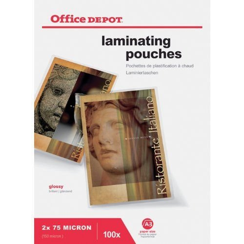 office-depotr-a3-laminiertaschen-glossy-tabelle-150-micron-hohe-qualitat-taschen-100-stuck