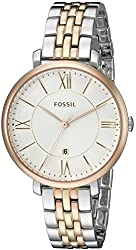 Fossil Women's ES3844 Jacqueline Three-Hand Date Stainless Steel Watch - Tri-Tone