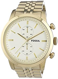 Fossil Mens Wristwatch XL Chronograph Quartz Stainless Steel FS4856