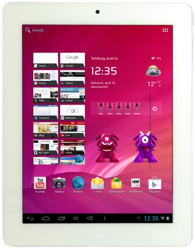CMX MID Aquila 20,3 cm (8 Zoll) Tablet-PC (ARM Amlogic Dualcore, 1,5GHz, 1GB RAM, 8GB SSD, Mail 400 Quad Core, Android, Touchscreen) wei/alu