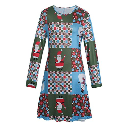 Femmes-Nol-Impression-RobeUlarmo-Manches-Longues-Femmes-vas-Fte-Robes-de-Marie