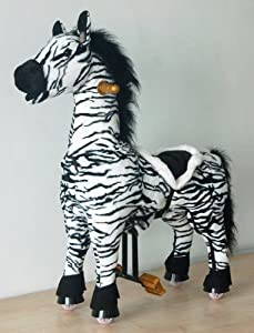 UFREE Walking Rocking Horse, Ride on Moving Zebra, Gift for Ages 3 to 5 Years