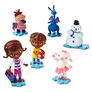 Disney Doc McStuffins Collectible 6 Piece Figurine Playset-Juego de Estatuillas