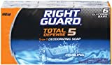 Right Guard Total Defense 5 in1 Deodorizing Soap Cooling Bar, 4 oz (6 bars)