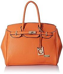 Cathy London Women's Handbag, Material- Synthetic Leather, Colour- Orange