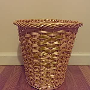 Amazon Com Small Branded Natural Wicker Round Willow