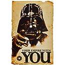 1art1 52077 Poster Star Wars Darth Vader L'Empire à Besoin de Vous 91 x 61 cm