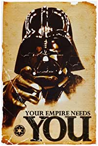 1 X Star Wars Movie Your Empire Needs You Darth Vader Poster Print