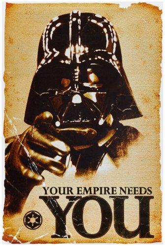 1art1, 52077, Poster, motivo: Star Wars - Empire Needs You, 91 x 61 cm