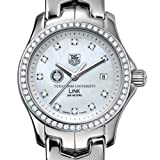 TAG HEUER watch:Texas A&M University TAG Heuer Watch - Women's Link with Diamond Bezel at M.LaHart