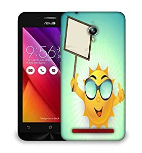 Snoogg abstract summer background Designer Protective Back Case Cover For Asus Zenfone GO