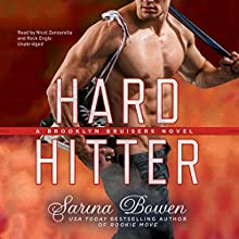 Hard Hitter: The Brooklyn Bruisers Series, Book 2 Audiobook by Sarina Bowen Narrated by Nicol Zanzarella, Rock Engle