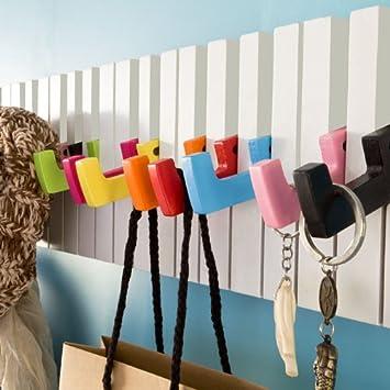 En chêne massif 4 portemanteaux chapeau vêtements robe titulaire rack wall hanger pivotant