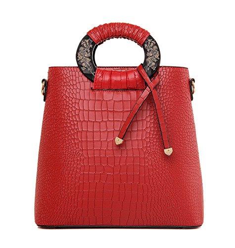 Easy Love Semplice Ed Elegante Moda Coccodrillo Messenger Bag Borsetta