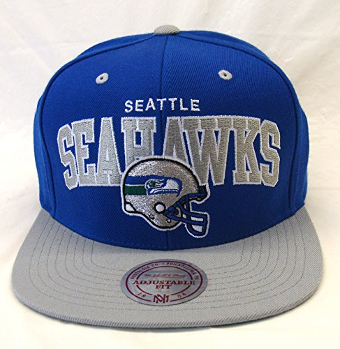 Seattle-Seahawks-Mitchell-Ness-Block-Snapback-Cap-Hat-Blue-Grey