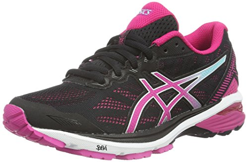 Asics Gt-1000 5, Scarpe Running Donna, Nero (Black/Sport Pink/Aruba Blue), 39 EU