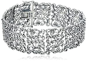 "Sterling Silver Oxidized Bracelet, 7.25"""