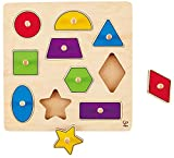 Hape Home Education - Geometric Shapes Knob Puzzle Puzzle