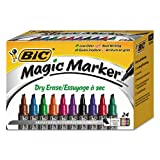 BIC Magic Dry Erase Marker, Tank Style, Chisel Tip, Assorted Colors, 24-Count (packaging may vary) (Color: Assorted, Tamaño: 3.1 x 3.8 x 5.5 inches)