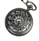 R-STYLE レトロ&アンティークスタイル 懐中時計 時計クロス(布)付きセット (放射状デザイン)