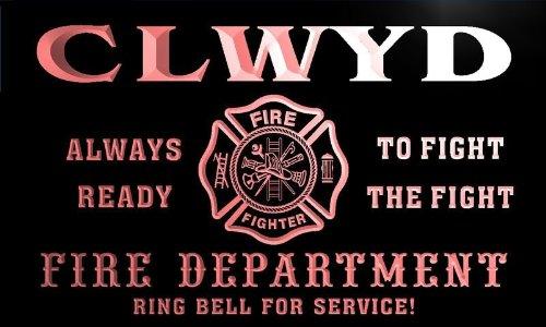 qy6918-r CLWYD Fire Dept Fireman Gift Home Decor Neon Light Sign