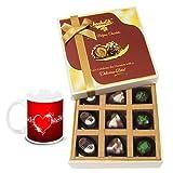 Valentine Chocholik Luxury Chocolates - Colorful Surprises Of Assorted Chocolates With Love Mug