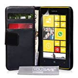 Yousave Accessories PU Leather Wallet Cover Case for Nokia Lumia 520 - Black