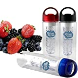 Go Fruit Fusion-Fruit Infuser Water Bottle(Blue), 20 Oz BPA Free Tritan Plastic, Premium Quality Fitness Canteen...
