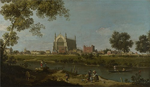 Oil Painting 'Canaletto Eton College ' Printing On High Quality Polyster Canvas , 16 X 28 Inch / 41 X 70 Cm ,the Best Bar Artwork And Home Gallery Art And Gifts Is This Vivid Art Decorative Canvas Prints