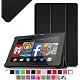 Fintie Fire HD 7 Tablet (2014 Oct Release) SmartShell Case Cover Ultra Slim Lightweight with Auto Sleep / Wake Feature (will only fit Fire HD 7 4th Generation 2014 model) - Black