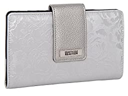 194534-877 Kenneth Cole Reaction Utility Clutch Marbled Style W/ Mirror (METALLIC BLOSSOM  SILVER)